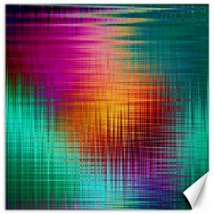 Colourful Weave Background Canvas 16  X 16   by Simbadda