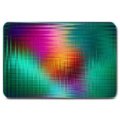 Colourful Weave Background Large Doormat  by Simbadda