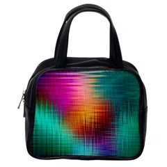 Colourful Weave Background Classic Handbags (one Side) by Simbadda