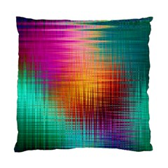 Colourful Weave Background Standard Cushion Case (two Sides) by Simbadda