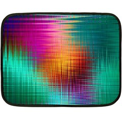 Colourful Weave Background Double Sided Fleece Blanket (mini)  by Simbadda