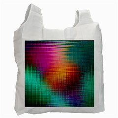 Colourful Weave Background Recycle Bag (two Side)  by Simbadda