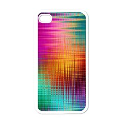 Colourful Weave Background Apple Iphone 4 Case (white) by Simbadda