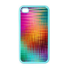 Colourful Weave Background Apple Iphone 4 Case (color) by Simbadda