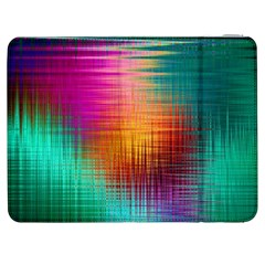 Colourful Weave Background Samsung Galaxy Tab 7  P1000 Flip Case by Simbadda