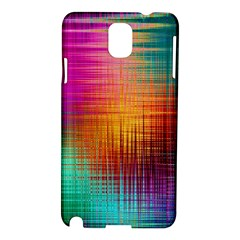 Colourful Weave Background Samsung Galaxy Note 3 N9005 Hardshell Case by Simbadda