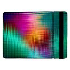Colourful Weave Background Samsung Galaxy Tab Pro 12 2  Flip Case by Simbadda