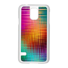 Colourful Weave Background Samsung Galaxy S5 Case (white) by Simbadda