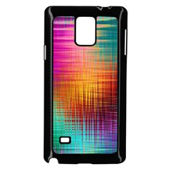 Colourful Weave Background Samsung Galaxy Note 4 Case (black) by Simbadda