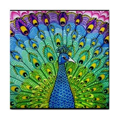 Peacock Bird Animation Tile Coasters by Simbadda
