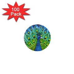 Peacock Bird Animation 1  Mini Buttons (100 Pack)  by Simbadda
