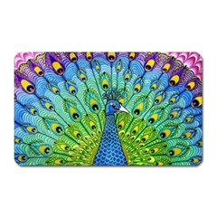Peacock Bird Animation Magnet (rectangular) by Simbadda