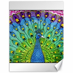 Peacock Bird Animation Canvas 18  X 24   by Simbadda