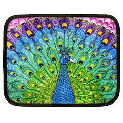 Peacock Bird Animation Netbook Case (xl)  by Simbadda