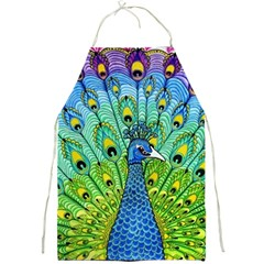 Peacock Bird Animation Full Print Aprons