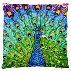 Peacock Bird Animation Large Cushion Case (two Sides) by Simbadda