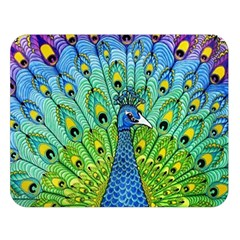Peacock Bird Animation Double Sided Flano Blanket (large)  by Simbadda