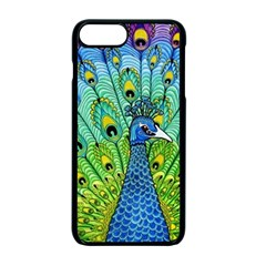 Peacock Bird Animation Apple Iphone 7 Plus Seamless Case (black) by Simbadda