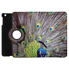 Peacock Bird Feathers Apple Ipad Mini Flip 360 Case by Simbadda
