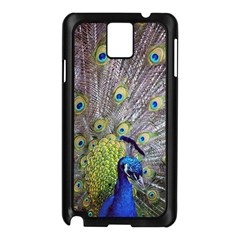 Peacock Bird Feathers Samsung Galaxy Note 3 N9005 Case (black) by Simbadda