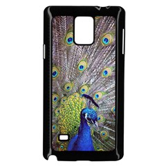 Peacock Bird Feathers Samsung Galaxy Note 4 Case (black)