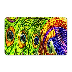 Peacock Feathers Magnet (rectangular) by Simbadda