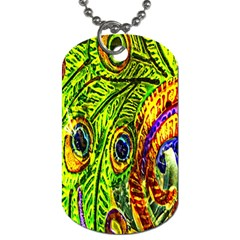 Peacock Feathers Dog Tag (two Sides) by Simbadda