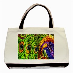 Peacock Feathers Basic Tote Bag by Simbadda