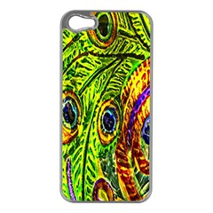 Peacock Feathers Apple Iphone 5 Case (silver) by Simbadda