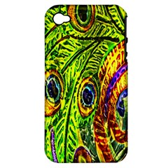 Peacock Feathers Apple Iphone 4/4s Hardshell Case (pc+silicone) by Simbadda
