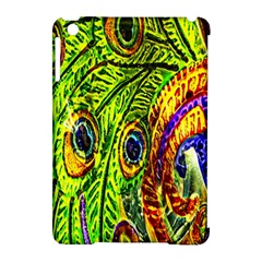 Peacock Feathers Apple Ipad Mini Hardshell Case (compatible With Smart Cover) by Simbadda