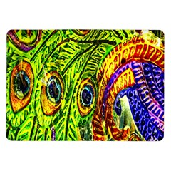 Peacock Feathers Samsung Galaxy Tab 10 1  P7500 Flip Case by Simbadda