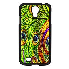 Peacock Feathers Samsung Galaxy S4 I9500/ I9505 Case (black) by Simbadda