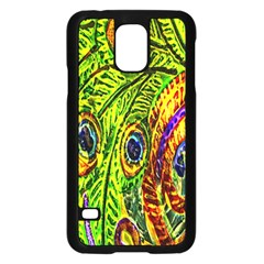 Peacock Feathers Samsung Galaxy S5 Case (black) by Simbadda