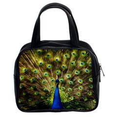 Peacock Bird Classic Handbags (2 Sides) by Simbadda