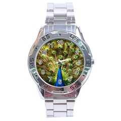 Peacock Bird Stainless Steel Analogue Watch by Simbadda