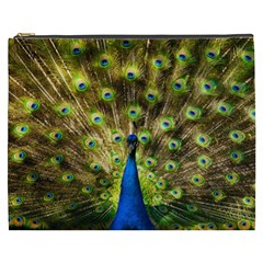 Peacock Bird Cosmetic Bag (xxxl)  by Simbadda
