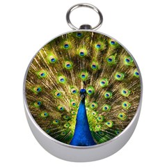 Peacock Bird Silver Compasses by Simbadda