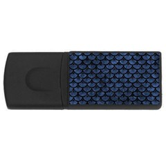 Scales3 Black Marble & Blue Stone (r) Usb Flash Drive Rectangular (4 Gb) by trendistuff