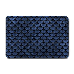 Scales3 Black Marble & Blue Stone (r) Small Doormat
