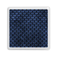 Scales3 Black Marble & Blue Stone (r) Memory Card Reader (square) by trendistuff