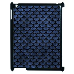Scales3 Black Marble & Blue Stone (r) Apple Ipad 2 Case (black) by trendistuff