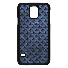 Scales3 Black Marble & Blue Stone (r) Samsung Galaxy S5 Case (black) by trendistuff