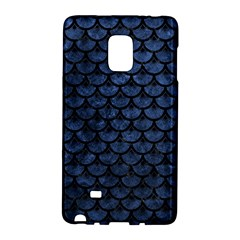 Scales3 Black Marble & Blue Stone (r) Samsung Galaxy Note Edge Hardshell Case by trendistuff
