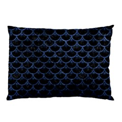 Scales3 Black Marble & Blue Stone Pillow Case (two Sides) by trendistuff