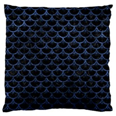 Scales3 Black Marble & Blue Stone Standard Flano Cushion Case (two Sides) by trendistuff