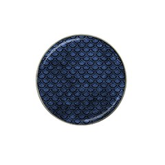 Scales2 Black Marble & Blue Stone (r) Hat Clip Ball Marker (4 Pack) by trendistuff