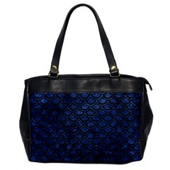 Scales2 Black Marble & Blue Stone (r) Oversize Office Handbag by trendistuff