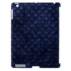 Scales2 Black Marble & Blue Stone (r) Apple Ipad 3/4 Hardshell Case (compatible With Smart Cover) by trendistuff