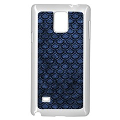 Scales2 Black Marble & Blue Stone (r) Samsung Galaxy Note 4 Case (white) by trendistuff